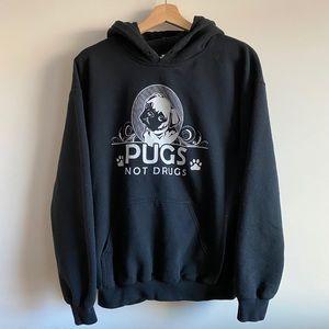 Pugs Not Drugs / Black Hoodie